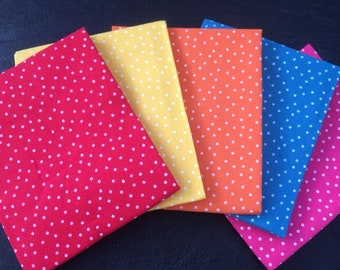 Bright spots 5 piece fat quarter bundle 100% cotton