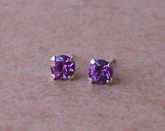 Fine Quality Genuine Brazilian Amethyst Sterling Silver Stud Earrings, Cavalier Creations