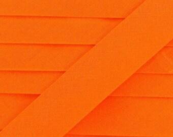 Bias folded cotton 2cm wide color orange