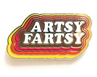 Artsy Fartsy Cloisonné enamel lapel pin