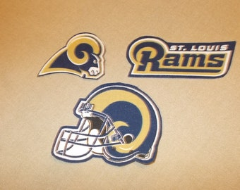 NFL - St Louis Rams Sew on or No Sew Appliques