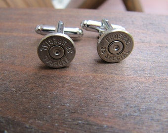 Bullet Cufflinks, 38 Special Bullet Cuff link, Groomsman Gift, Gifts for Him, Stocking Stuffer, Father of the Bride Gift, Groom Gift