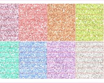 Spring Multicolor- Glitter Headers