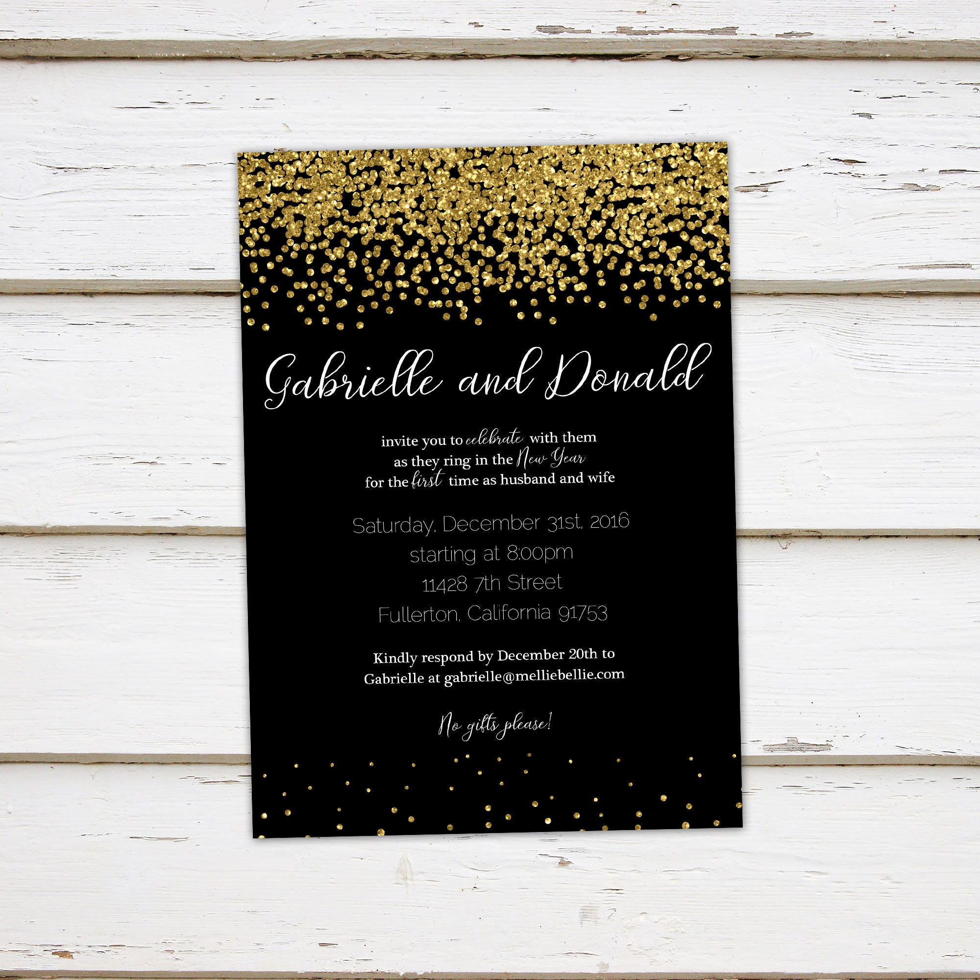 Printable New Years Reception Invitation New Years Party