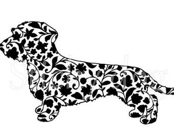 Wire-haired Dachshund - Teckel sticker