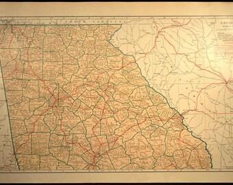 Vintage atlanta map Etsy