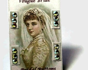 Bridal Buttons Sales Card ~ Dolls House Miniature ~ 12th Scale