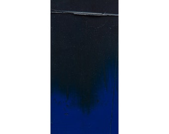 "Small Abstract Painting, Abstract Painting, Modern Oil Painting, Original Wall Art, Home Decor Wall Art, Blue & Black Colors, ~4""x8"""
