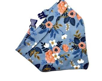 Rifle Paper Dog Bandana - Floral Dog Bandana – Dog Mom Gift - Dog Scarf - Flowers Dog Bandanna – Girl Dog Accessories - Pet Gift