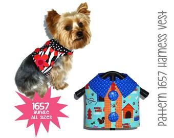 Dog Harness Pattern 1657 * Dog Harness Vest * Dog Shirts * Dog Clothes * Dog Apparel * Dog Gifts * Dog Clothes Patterns * Bundle All Sizes