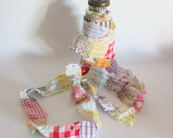 Decorative trim multicolored scrap trim ribbon gift wrapping sewing supplies handmade trim shabby chic home decor embellishments colorful