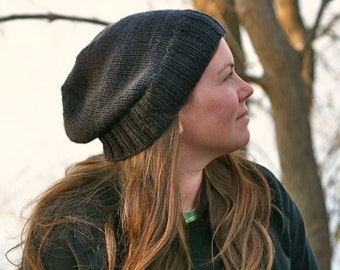 Knitting Pattern - Kendall Slouchy Beanie - Hipster - Knit Hat - Cap - Men - Women