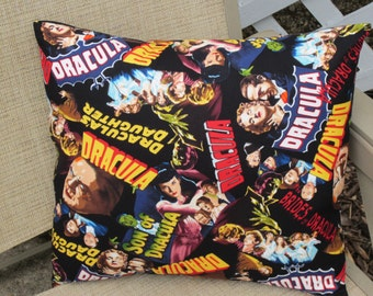 Dracula Pillow, The Brides of Dracula Pillow, Scary Pillow, Halloween Pillow, Daughter of Dracula Pillow, Novelty Pillow for Halloween