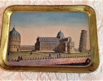 Italian Tray showing Pisa, Italy