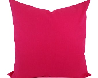 Solid Hot Pink Pillow Cover - Hot Pink Pillow Cover - Linen Pillow Cover - Solid Pink Throw Pillow - Custom Pillow - 16 x 16 Pillow 18 x 18