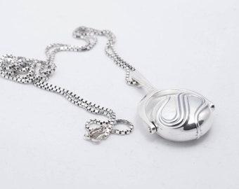 David Andersen Rare Vintage Norwegian Sterling Silver Modernist Pendant and Necklace