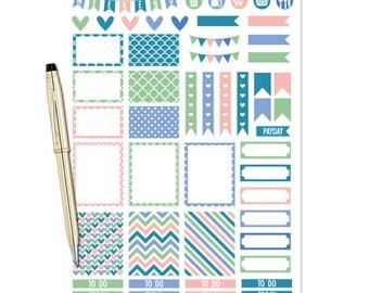 Planner Stickers Weekly Kit - Bermuda - Erin Condren Planner Stickers