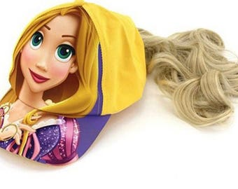 Repunzel hat with added hair!