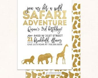golden safari invitation gold safari party wild safari invitation golden safari birthday digital zoo birthday safari invite