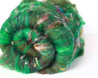 HEATHERED HEATH 2.8 oz  Wool - Merino // Art Batt // Wool Art Batt for spinning or needle felting