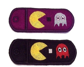 Custom PacMan Key Chain Lip Balm, USB Drive  or Lighter Holder