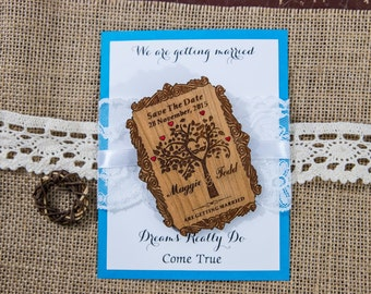 tree of life wood save the date magnet (45)/ engraved save the date  save the date wedding magnets/ tree save the date/ wood save the dates