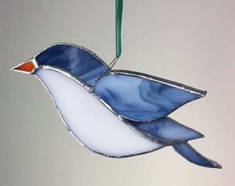 3D Stained Glass Bird Window, Ornament, Suncatcher