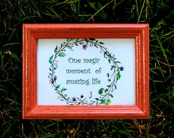 Flame Frame - Wedding Frames, Shabby Chic Rustic Picture Frames