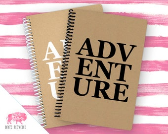 Spiral Notebook | Spiral Journal Planner | Journal | 100% Recycled | Adventure | BB048