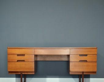 1960's Gunther Hoffstead for Uniflex Vintage Teak Desk / Dressing Table. Delivery. Midcentury / Modern / Retro / Danish Style.