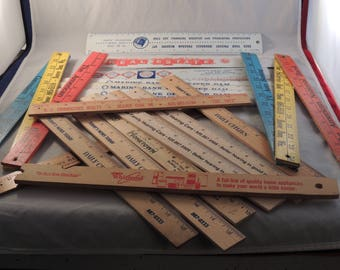 21 Advertising Rulers from Beaver Dam Wisconsin