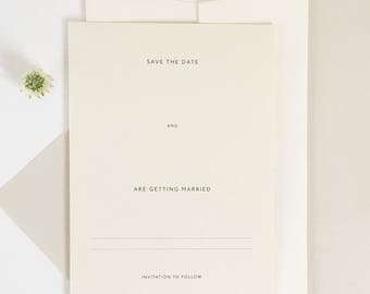DIY Wedding Save the Date Cards