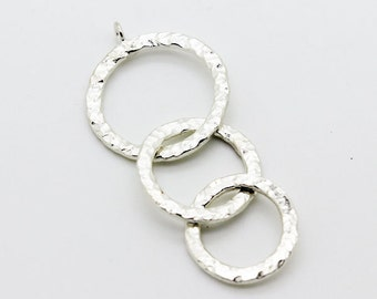 Heavy and thick Pure hill tribe silver tree loops pendant 98 percent pure silver