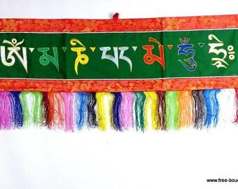 HANGING Tibetan OM Buddhist meditation Tibetan Omph4 decoration