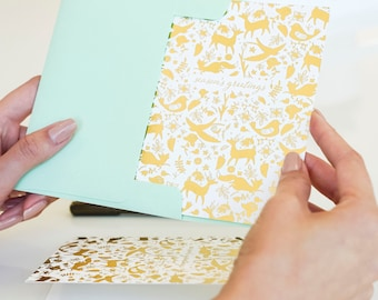 Gold Foil Enchanted Holiday Card