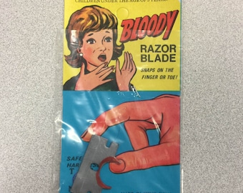 1960s Fake Razor Blade Novelty Gag Mint in Package