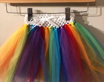Rainbow dog tutu skirt