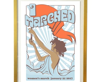 Women's March Poster - Commemorate with this Art Print