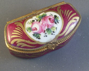 SALE Limoges France Handpainted Trinket Box