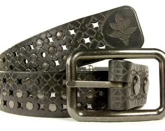 Premium Italian Leather Mens Belt  - The Rohan