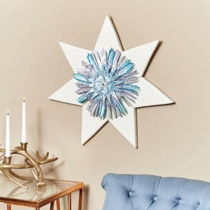 Country Star Decor, White Star Decor, Wood Wall Art,, Metal Wall Art