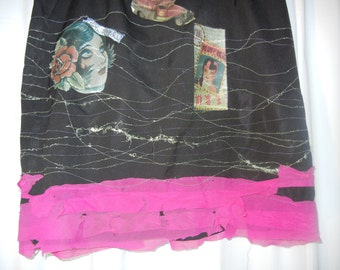 upcycled womens skirt