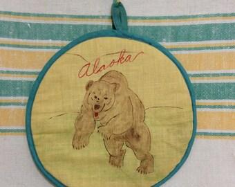 Vintage Alaska Souvenir Potholder