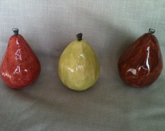 Decorative ceramic pears