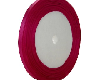 22 meters of 7mm Fuchsia - free shipping satin ribbon roll