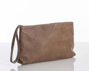 Leather evening bag, Minimal clutch, Leather evening clutch, Elegant clutch bag, Leather clutch purse, Soft Leather clutch Bag