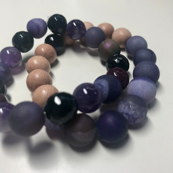 Purple Crown Chakra Bracelets