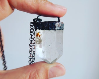Quartz Point with Natural Inclusions