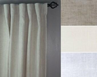 Linen Curtains: 100% Linen, Regular or Extra Wide