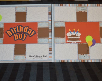Birthday Boy scrapbook page kit